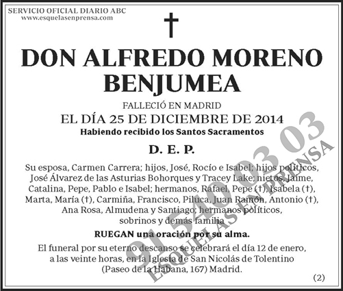 Alfredo Moreno Benjumea